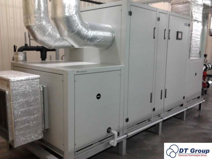 Адсорбционный роторный осушитель воздуха Desiccant Technologies Group MDC6000  Установлен в производственных помещениях кондитерской фабрики.