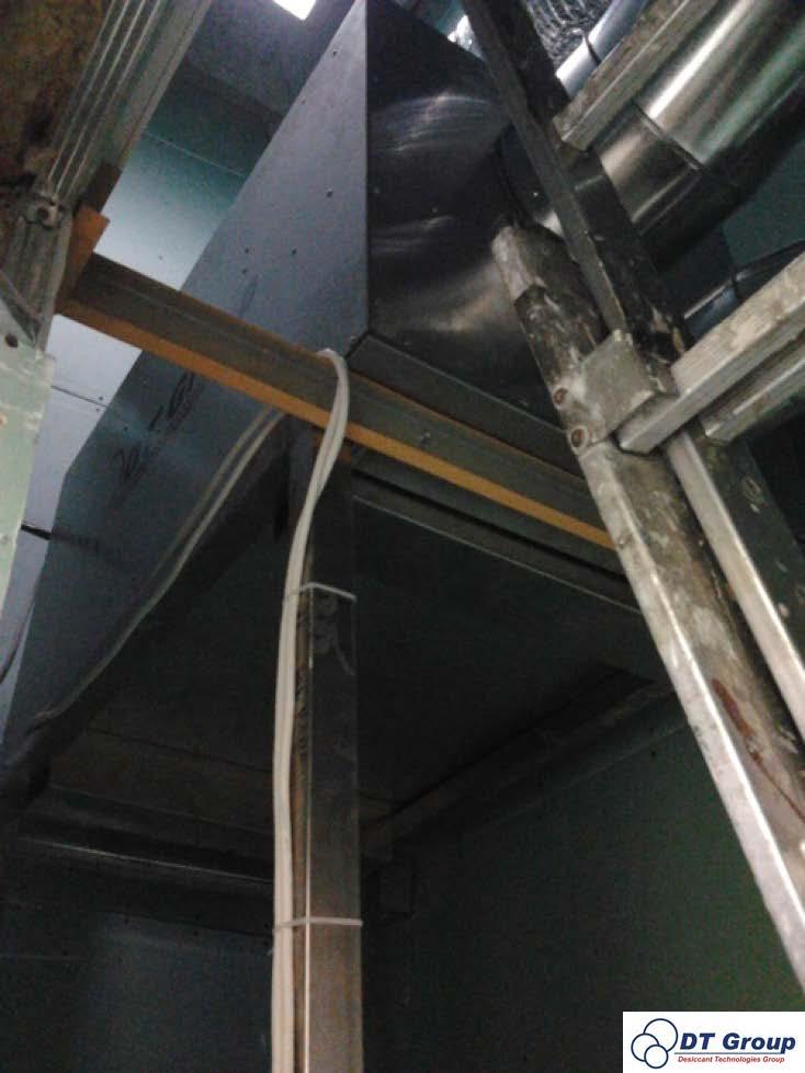 Адсорбційний роторний осушувач повітря Desiccant Technologies Group MDC800  Встановлений на кондитерській фабриці з виробництва зефіру в камері сушіння.